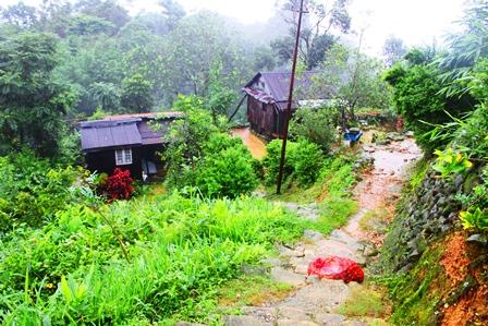 メガラヤの典型的な村