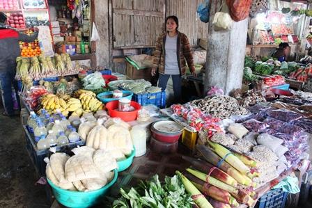 ナガランドの市場の野菜