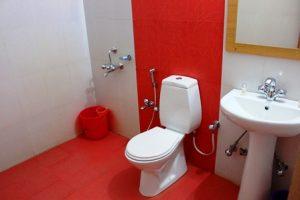 ギザ:ラダックのホテルのバスルーム