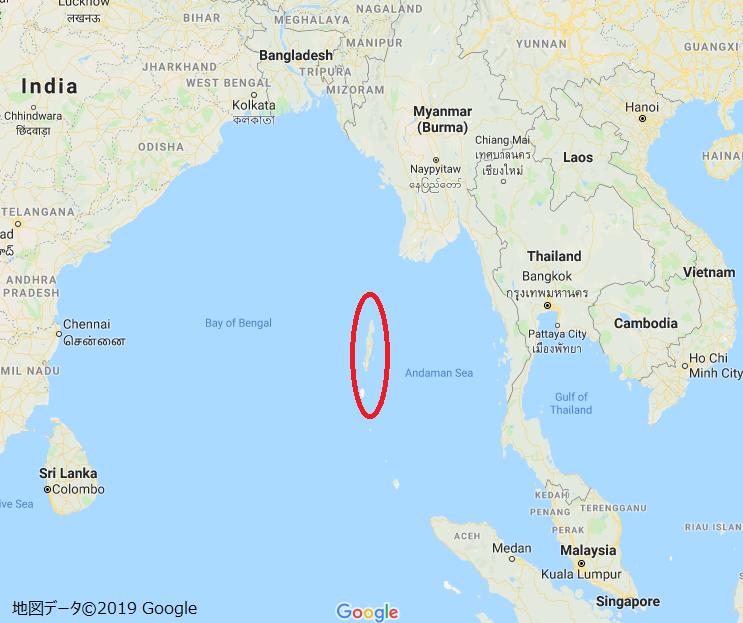 アンダマン諸島地図