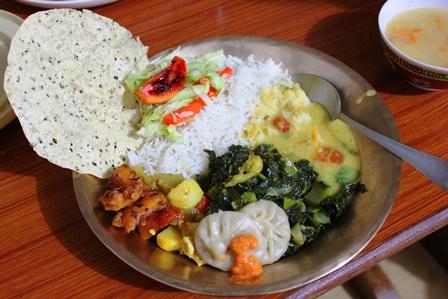 シッキム料理:シッキムのオーガニック野菜をたっぷり使った伝統料理