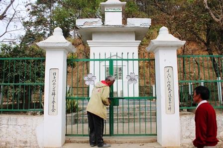 北東インド:レッドヒル日本人戦没者慰霊碑