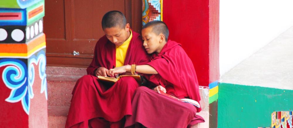 個人情報の管理:シッキムの若い僧侶